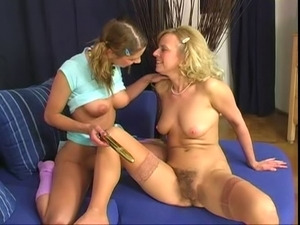 Hairy Mature v Young Hairy Lesbian 3