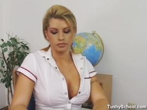 The schoolgirl passes examination! free