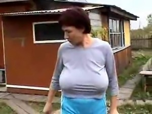 Grandmas Big Saggy Tits