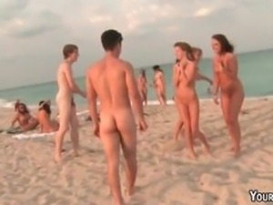 Nude Beach Body Shots  Hotel Orgy