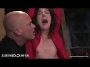 Horny bondage girl gives blowjo ... free