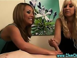 Cfnm fetish femdom massage handjob