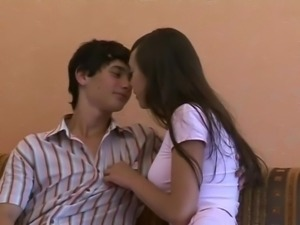 Tight Ukrainian Girl Tastes Her First Cock