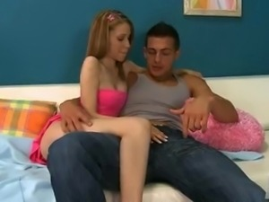 4Couples: Tiny Teen makes his cock look HUGE