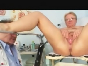 Busty Granny Checked over by the Doctor