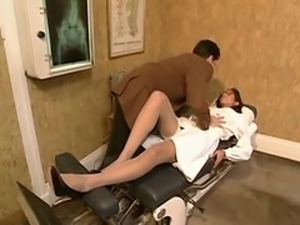 beurette nurse gets fucked by doctor