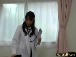 Japanese asian nurse sucking cock free