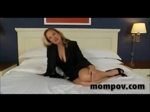 Big tits office milf taking my dick hard