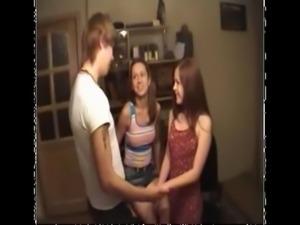 Russian teen anal threesome free