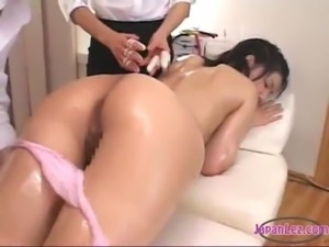 Asian Girl Oil On Body Massaged ... free