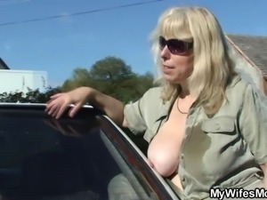 Wife catches her husband fucking mother in law