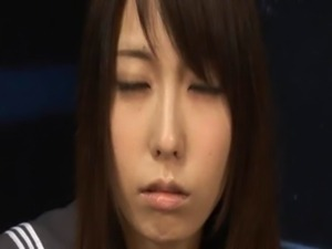 Asian schoolgirl sucking four cock free