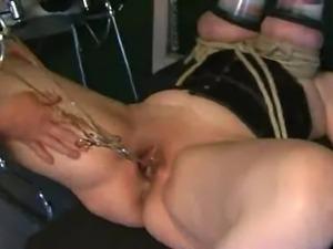 Lactating boobs in vacuum