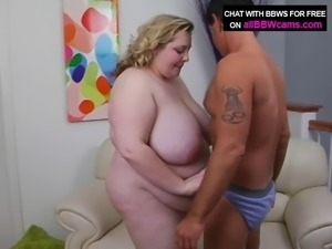 Pussy Bbw Pounding Over Dick In Her Chubby Ass Plumper 1