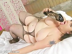 Dirty British MILF BBW Honey Fucks Young Stud in Castle