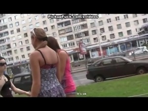 Slutty girls in outdoor pickup fuck free