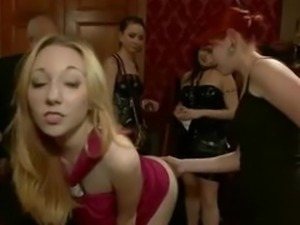 Hot naked delicious blonde and brunette spanked tied and fucked i