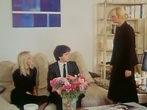 Brigitte Lahaie and Elisabeth Bur threesome