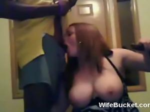 Busty wife interracial threesome