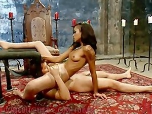 Sexy Dominatrix Milks Her Slave
