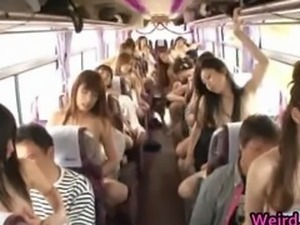 Crazy Asian babes are taking a bus tour part2