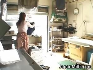Horny japanese MILFS sucking and fucking