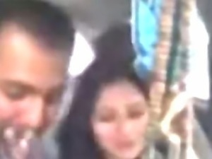 Awesome Punjabi girl from Lahore smokes and smooches her lover in car