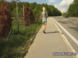 Hot bigtit jogger sucks for cash free