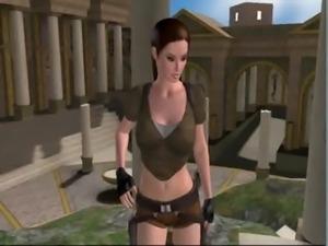 Lara Croft fucked by a demon at 3dSexVilla2 free