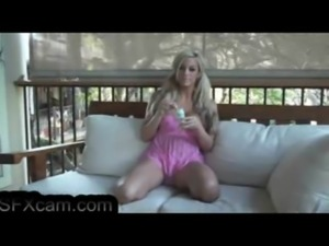 Very hot blonde plays with her bubbles.sexy boobs  pussy SFXcam.com free