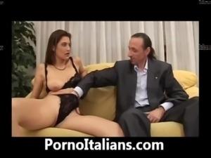 Wife BlowJob fantastic Pussy-hair Italian - Moglie italiana pompino...