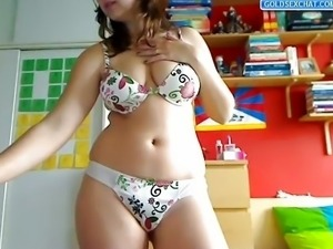 Sexy Teen Stripping on Webcam