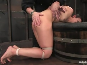 cutie enjoying some water bdsm and domination