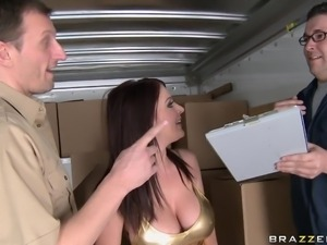 hot brunette getting her ass slapped