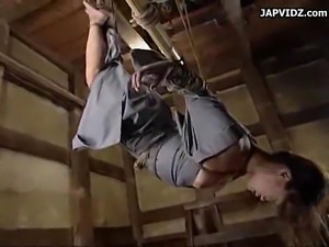 Asian teen prepped for bondage submission.