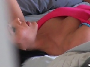 pervert scares a horny milf