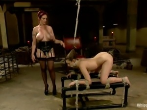 horny mistress playing with her bitch!