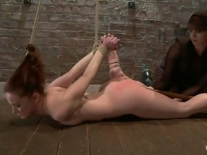whore with red ass taking her punishment