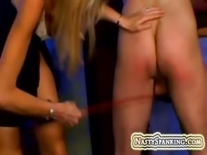 Housewife spanking her husband