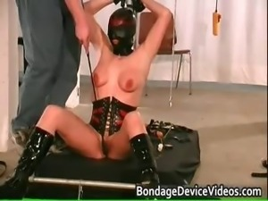Chubby babe is bound and spanked to test part1