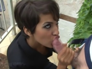 Moroccan Beauty Loves To Suck Cock and Anal Fuck
