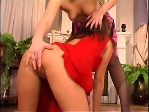 Russian Lesbian Boss Seduce & Strap On Innocent Maid