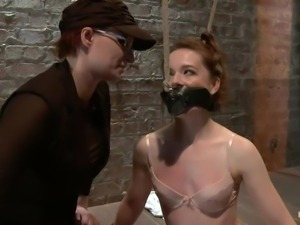 annabelle receives a nice whipping on the floor