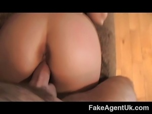 Amateur MILF casting deep throat wet pussy