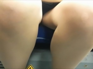 Snatched Glimpses Upskirt on a Train