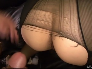 ripping her pantyhose to fuck her