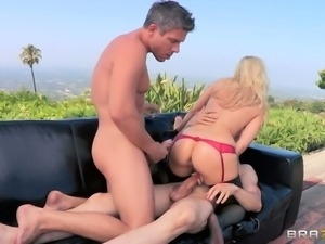 blonde milf getting double penetrated