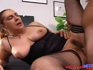 Mature Spanish slut fucked hard in the ass