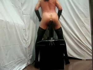 Giant dildo on a chair part II