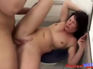 Mature MILF suck big cock give rimjob and get fucked hard and get load on her...